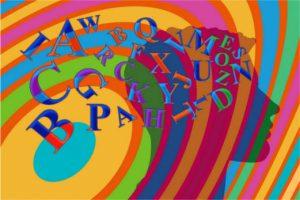 Silueta de una persona sobre la que hay varias líneas de color y multitud de letras flotando en ellas.