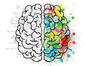 Representación de las dos partes del cerebro que se ponen en marcha al hablar solo