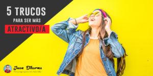 cinco trucos para ser mas atractivo chica sonriente con fondo amarillo